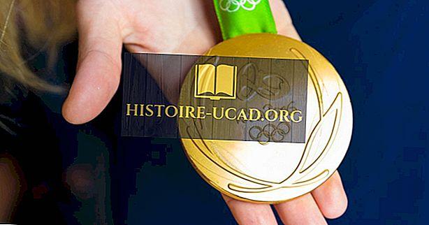 ما هي الميداليات الأولمبية المصنوعة من؟