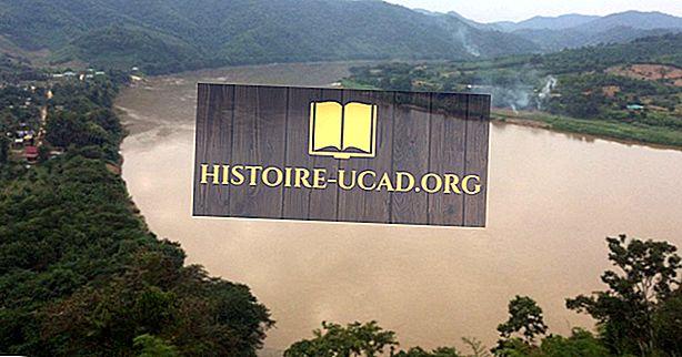 أين يبدأ نهر الميكونج وينتهي؟