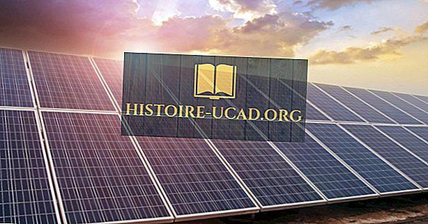 заобикаляща среда - Производство на слънчева енергия по държава
