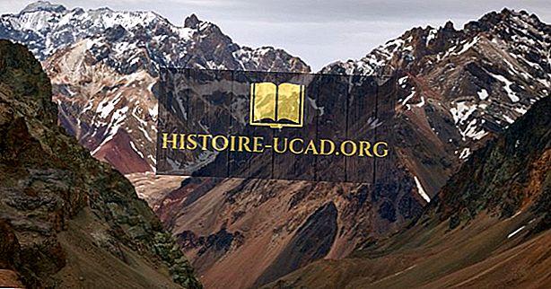 أطول جبال في جبال الأنديز الأمريكية الجنوبية