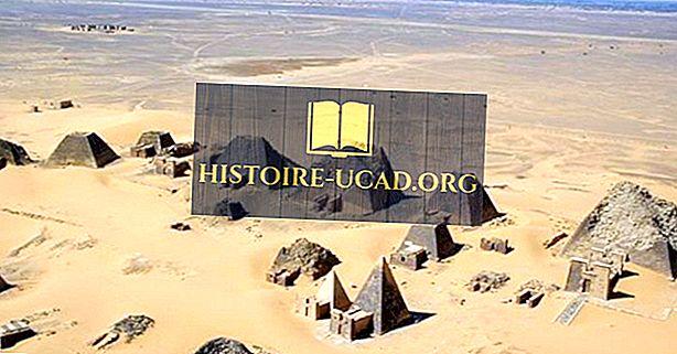 مواقع كوش القديمة في جزيرة مروي ، السودان