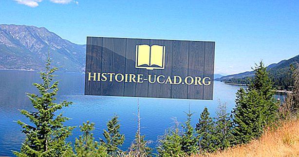 Най-големите езера в Британска Колумбия