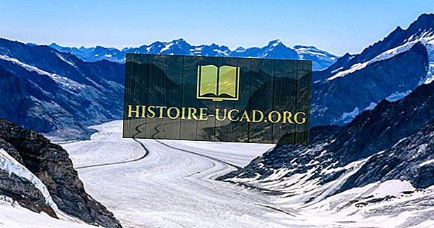 スイスの主要氷河に対する地球温暖化の影響