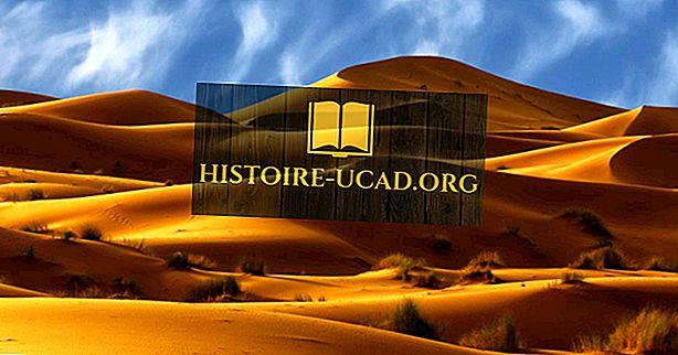 Các phần chính của sa mạc Sahara ở châu Phi