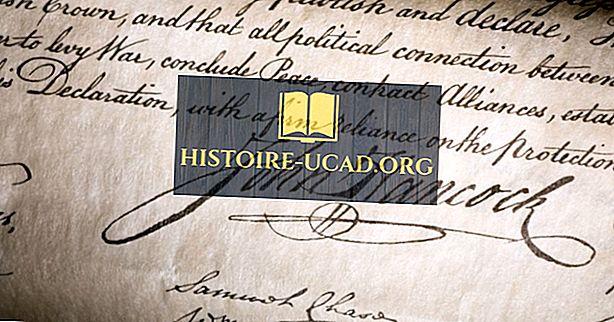 Кто первым подписал Декларацию независимости?