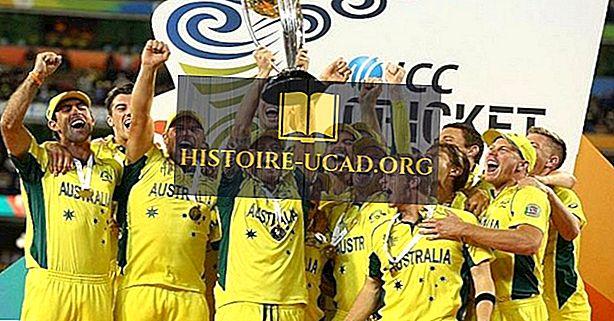 Topp National Cricket-lag og VM-vinnere