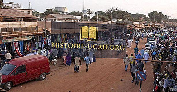 De største byer og byer i Gambia