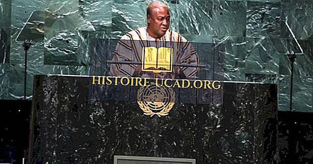 जॉन ड्रामानी महामा, घाना के राष्ट्रपति - इतिहास में विश्व नेता
