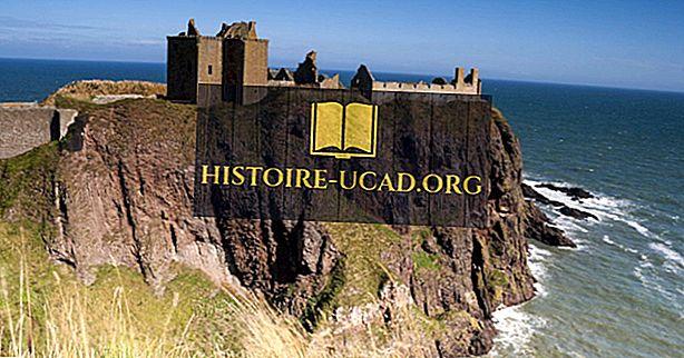 cestovat - Dunnottar hrad, Skotsko - jedinečná místa po celém světě