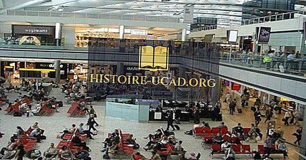 Hvilke er de travleste lufthavne i Det Forenede Kongerige med passagertrafik?