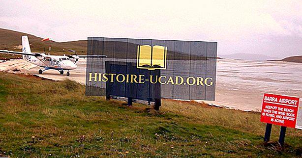 Kaj je edinstveno o letališču Barra na Škotskem?