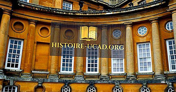 Velký palác Blenheim v Anglii: světového dědictví UNESCO ve Spojeném království