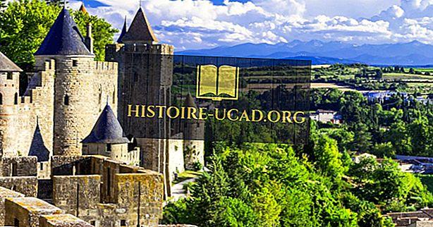 Den befolket byen Carcassonne: En UNESCO World Heritage Site i Frankrike
