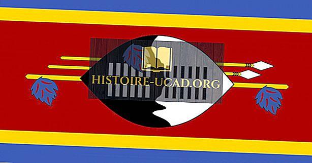 Kaj pomenijo barve in simboli zastave Svazija?