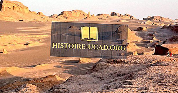Dasht-e Lut砂漠はどこですか