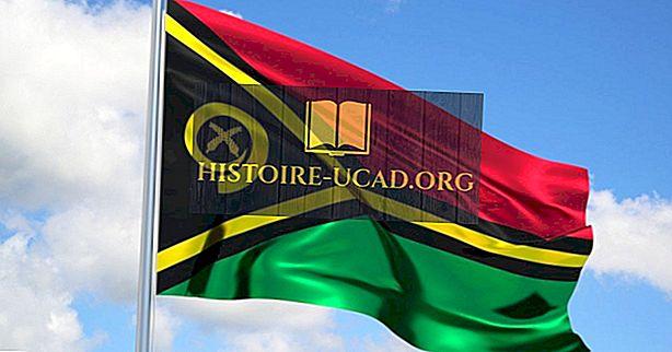 Kaj pomenijo barve in simboli zastave Vanuatuja?