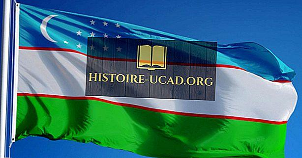 Ko nozīmē Uzbekistānas karoga krāsas un simboli?