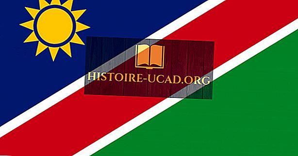 Que signifient les couleurs et les symboles du drapeau de la Namibie?