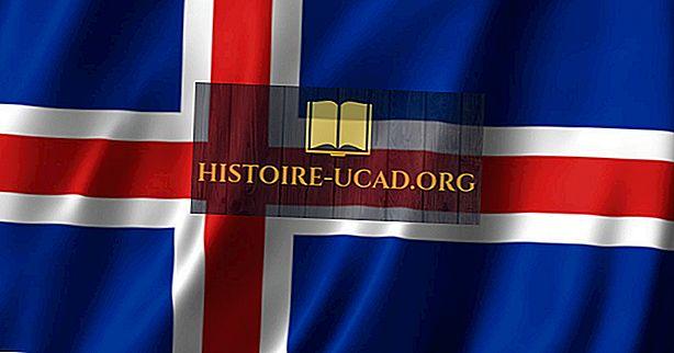 Kaj pomenijo barve in simboli zastave Islandije?