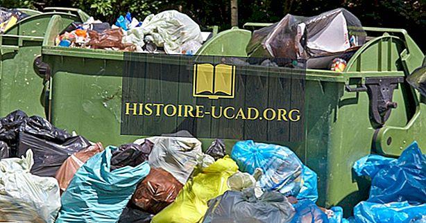 Europos šalys, kuriančios daugiausia atliekų