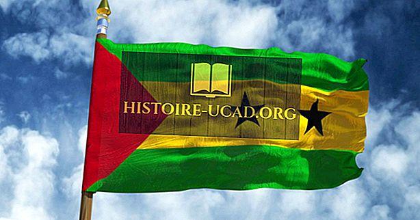 Co znamenají barvy a symboly vlajky Svatého Tomáše a Princův ostrov?
