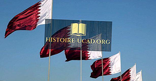 Hva betyr farger og symboler på flagget av Qatar?