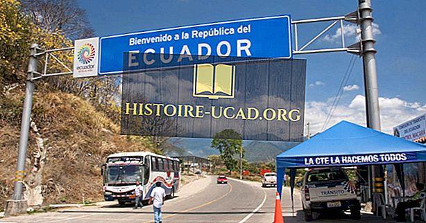 Kurios šalys pasienio Ekvadoras?