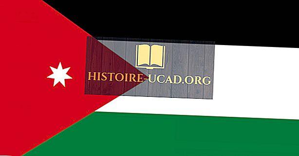 Le drapeau national de la Jordanie