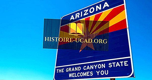 Které státy hraničí s Arizonou?