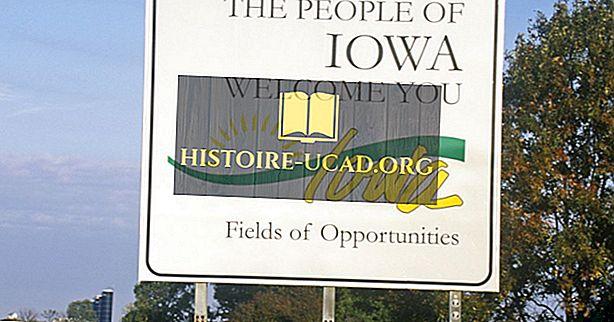 Ποιά κράτη Iowa συνόρων;