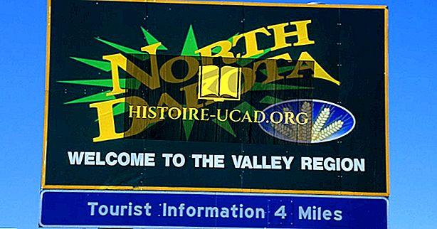 Negara bagian mana yang berbatasan dengan North Dakota?