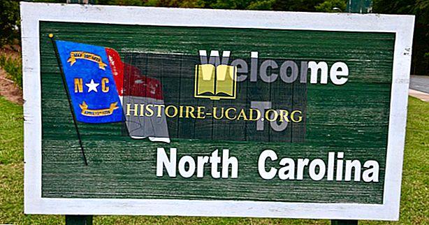कौन सा राज्य उत्तरी केरोलिना सीमा?
