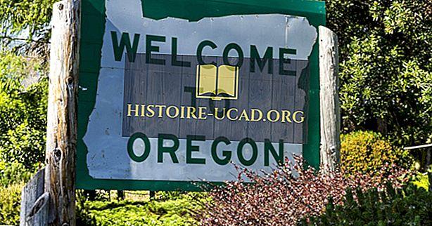 Które państwa Border Oregon?