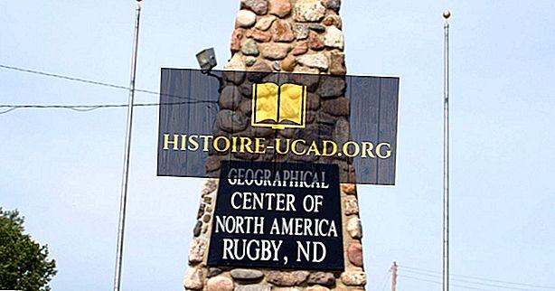 उत्तरी अमेरिका का भौगोलिक केंद्र कहाँ है?