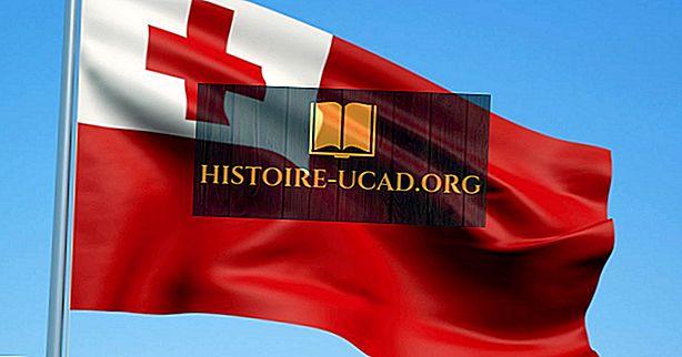 Hva betyr farger og symboler av flaggan av Tonga?