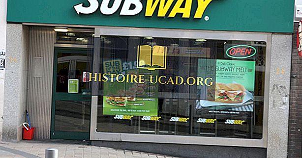 البلدان مع معظم مطاعم Subway