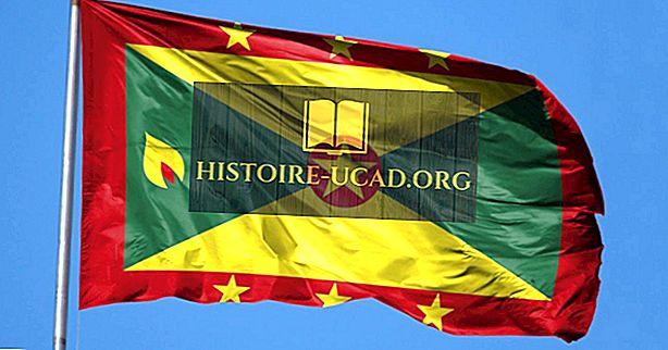 Que signifient les couleurs et les symboles du drapeau de la Grenade?